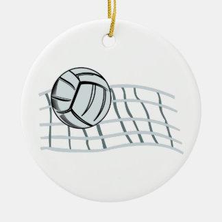 Volleyball Round Ceramic Ornament