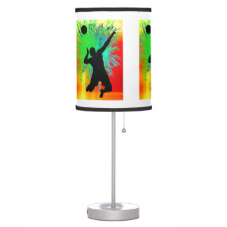 Volleyball Service Explosion ANY COLOR BACKGRND Table Lamp