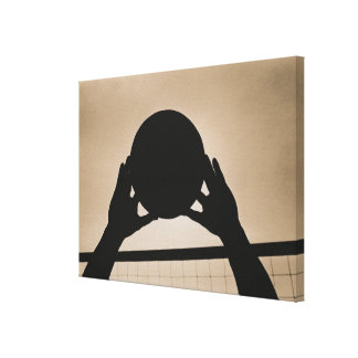 Volleyball Silhouette 2 Canvas Print