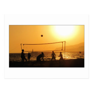 Volleyball Silhouette Postcard