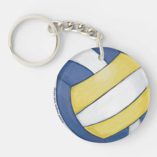 Volleyball Single-Sided Round Acrylic Keychain