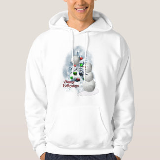 Volleyball Snowman Christmas Hoodie