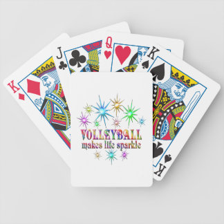 Volleyball Sparkles Bicycle Playing Cards