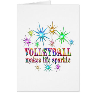 Volleyball Sparkles Card