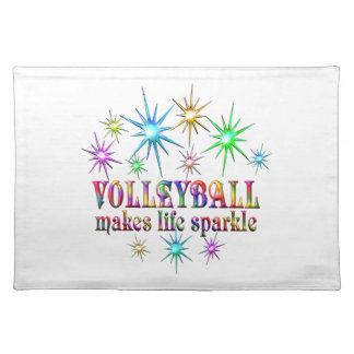 Volleyball Sparkles Placemat