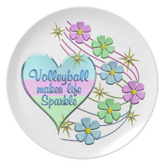 Volleyball Sparkles Plate