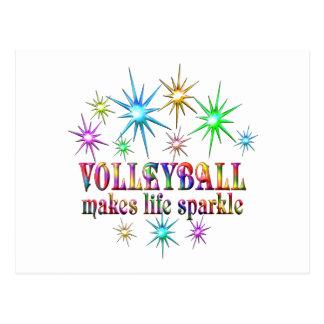 Volleyball Sparkles Postcard