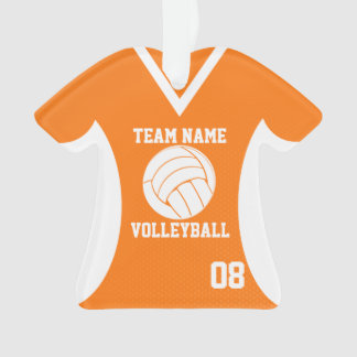 Volleyball Sports Jersey Orange with Photo