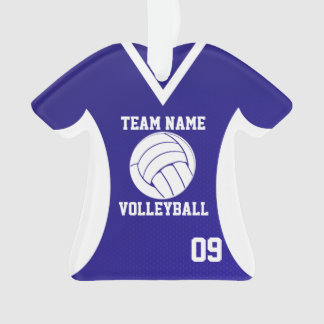 Volleyball Sports Jersey Royal with Photo Ornament