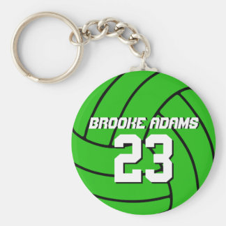 Volleyball Sports Team Keychain Customize Color