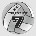 Volleyball Stickers with YEAR, YOUR NAME, NUMBER