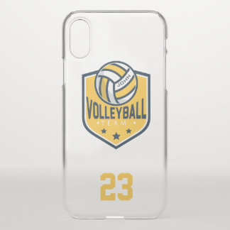 Volleyball Team. Custom Player  Name & Number. iPhone X Case