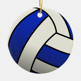 Volleyball Team Gifts - Blue Round Ceramic Ornament