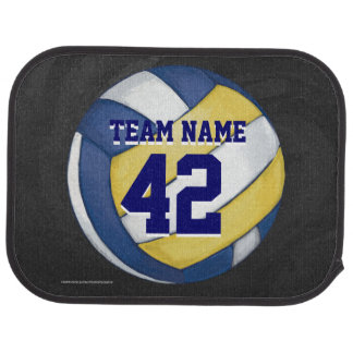 Volleyball Team Name and Number Car Mat
