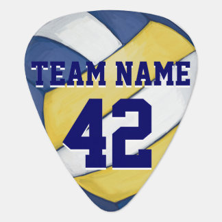 Volleyball Team Name and Number Guitar Pick