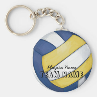Volleyball Team Name and Number Keychain