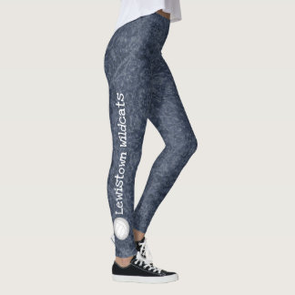 volleyball team name patterned dark blue leggings