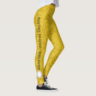 volleyball team name patterned gold leggings
