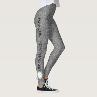 volleyball team name patterned gray leggings