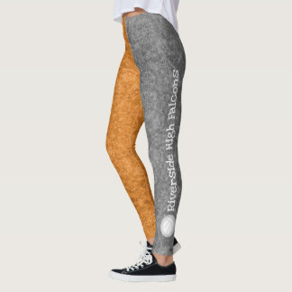 volleyball team name patterned gray orange leggings