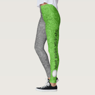 volleyball team name patterned green gray leggings