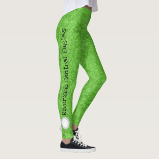 volleyball team name patterned lime green leggings