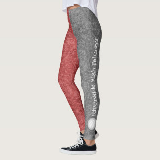 volleyball team name patterned red gray leggings