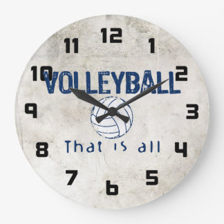 Volleyball, That Is All Large Clock