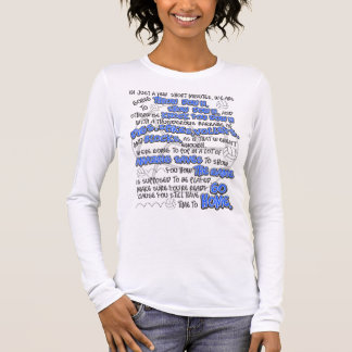 Volleyball Throwdown, Blue Long Sleeve T-Shirt