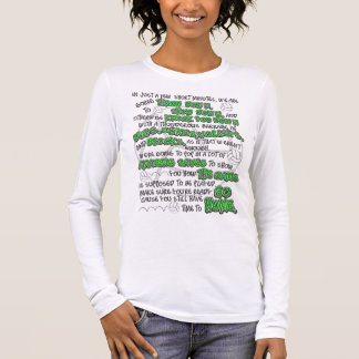 Volleyball Throwdown, Green Long Sleeve T-Shirt