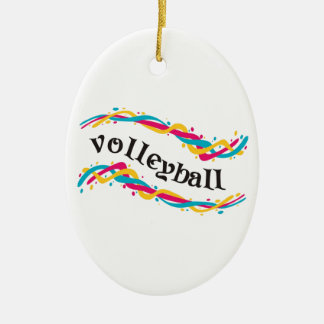 Volleyball Twists Ceramic Ornament