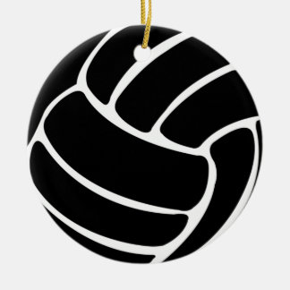 Volleyball W/Name Ornament  Black