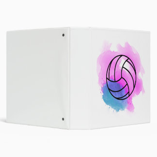 Volleyball Watercolor 3 Ring Binder