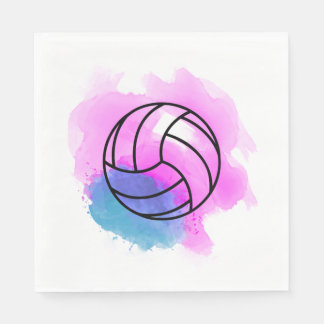Volleyball Watercolor Paper Napkins