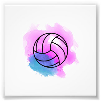 Volleyball Watercolor Photo Print