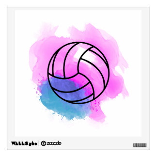 Volleyball Watercolor Wall Sticker