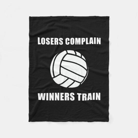 Volleyball Winners Train Fleece Blanket