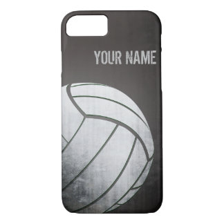 volleyball with Grunge effect Black Shade iPhone 7 Case