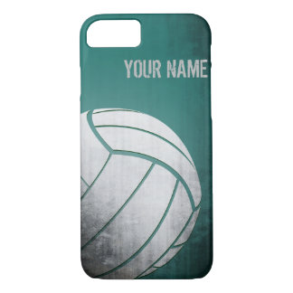 Volleyball with Grunge effect Green Shade iPhone 7 Case