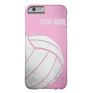Volleyball with Grunge effect Pink Shade Barely There iPhone 6 Case
