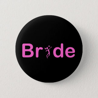 VolleyBride Text 2 Inch Round Button