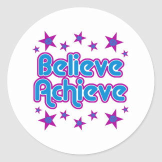 VolleyChick Believe Achieve Classic Round Sticker