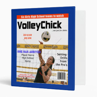 VolleyChick Custom Magazine Cover Binder