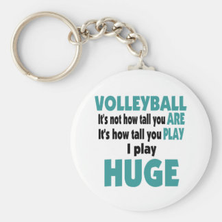 VolleyChick Huge Basic Round Button Keychain