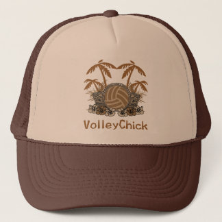 VolleyChick Two Tiki Trucker Hat