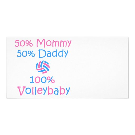 VolleyChick VolleyBaby 100% Customized Photo Card
