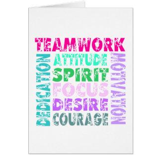 VolleyChick's Teamwork Card