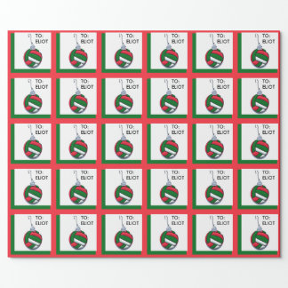 Vollleyball Christmas Wrapping Paper