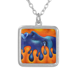 Volsiphina V1 - dropping face Silver Plated Necklace
