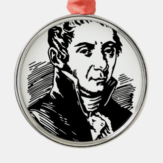 Volta  Alessandro Silver-Colored Round Ornament
